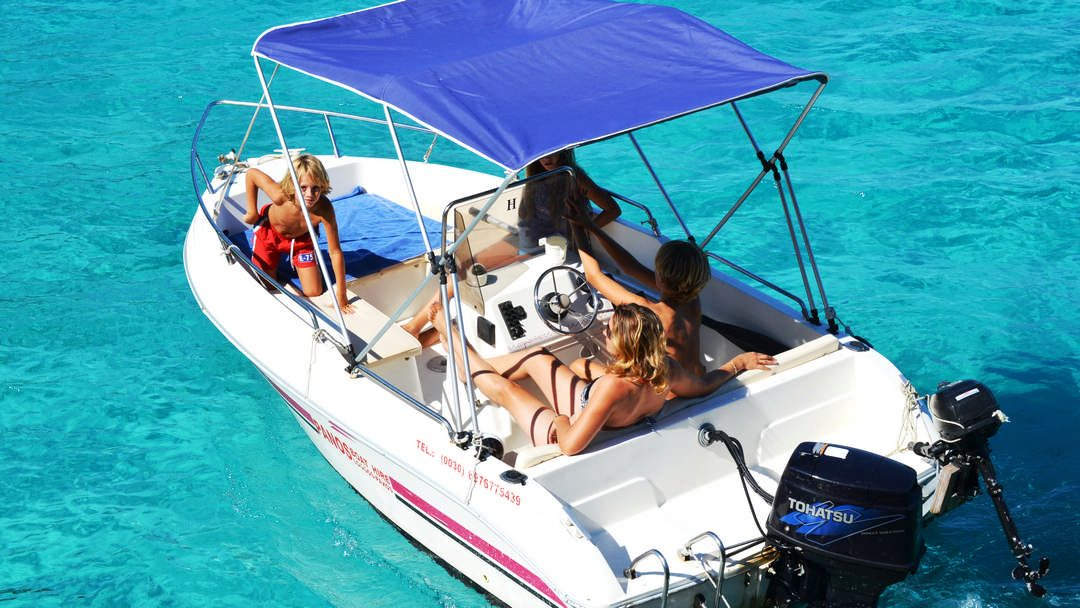 Callisto & Calipso | 30-50 HP Special Comfort Boats for hire in Paxos