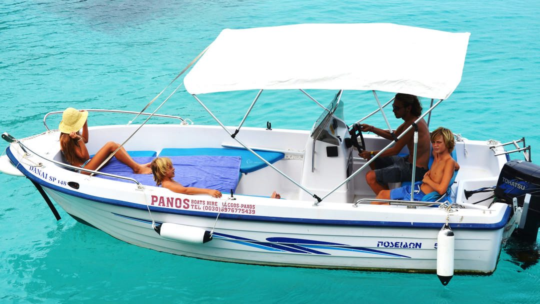 Danai & Chrysanthi | 30-50 HP Special Comfort Boats for hire in Paxos