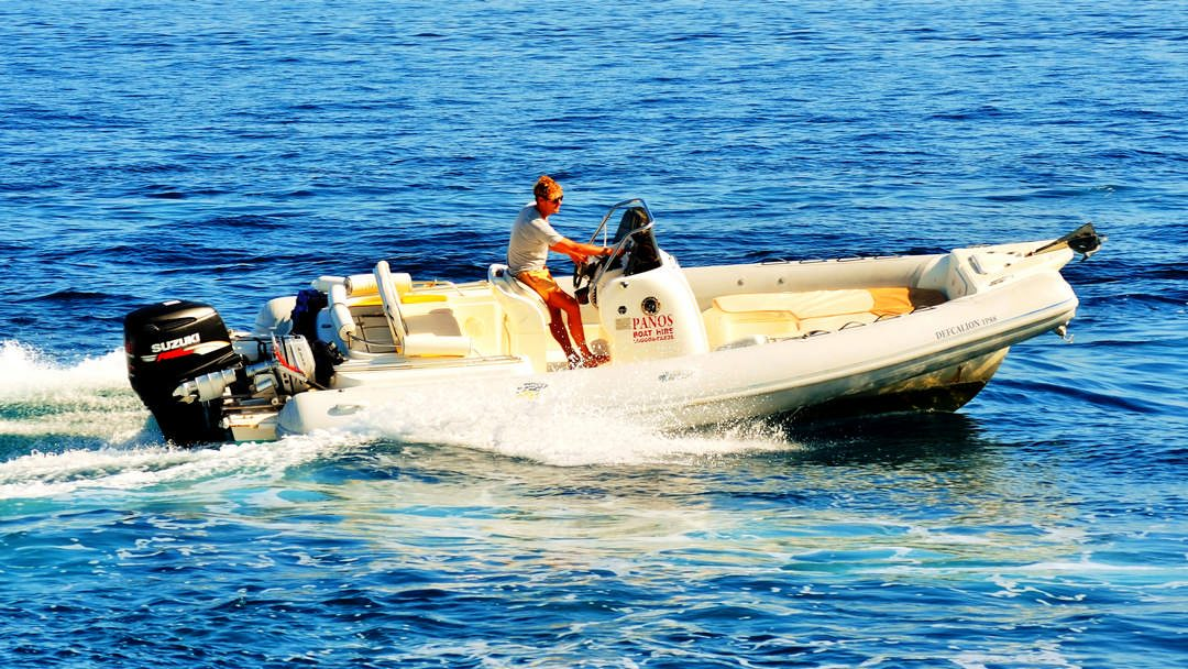 Defcalion | 250 HP Sport Deluxe RIB for rent in Paxos