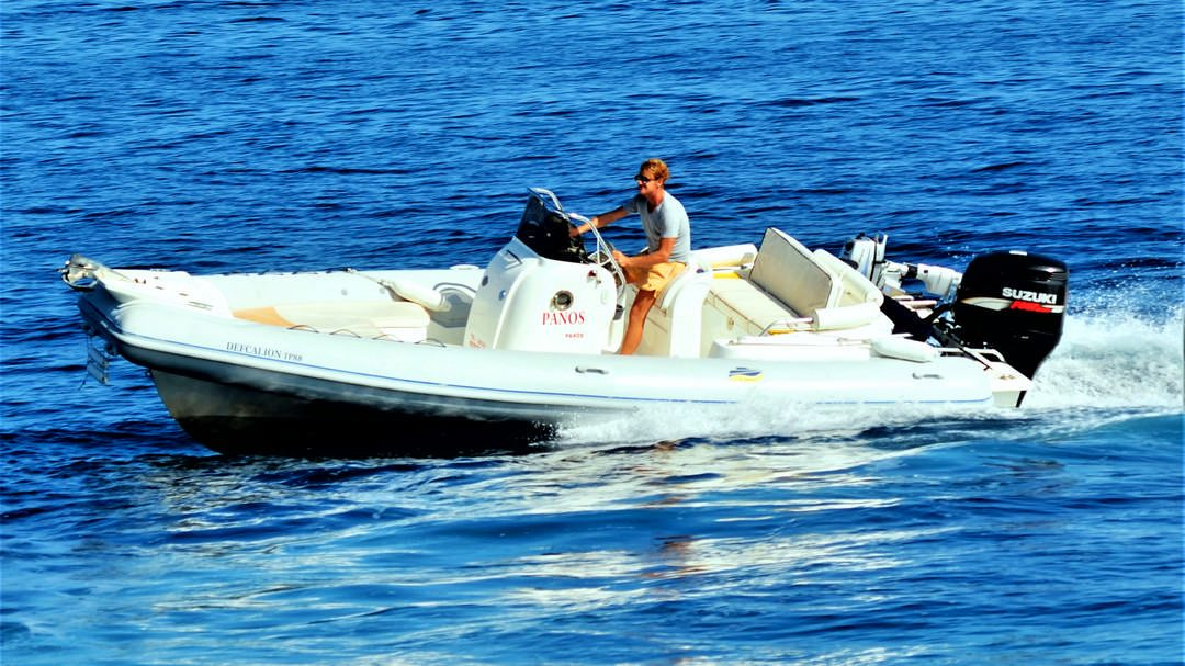 Defcalion | 250 HP Sport Deluxe RIB for hire in Paxos
