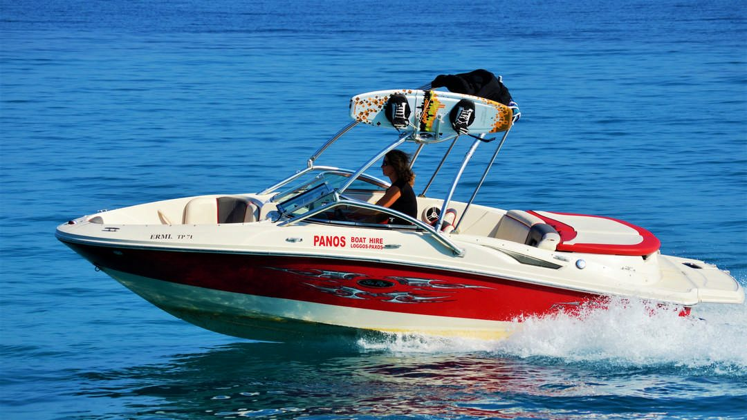 Ermis | 250 HP Water Sport Boat for hire in Paxos