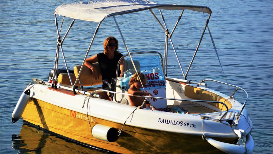 Ikaros & Daidalos | 30-60 HP Deluxe Boats for hire in Paxos
