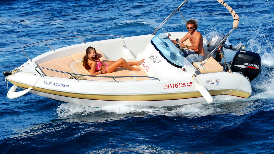 Kentavros | 30-60 HP Deluxe Boat for rent in Paxos