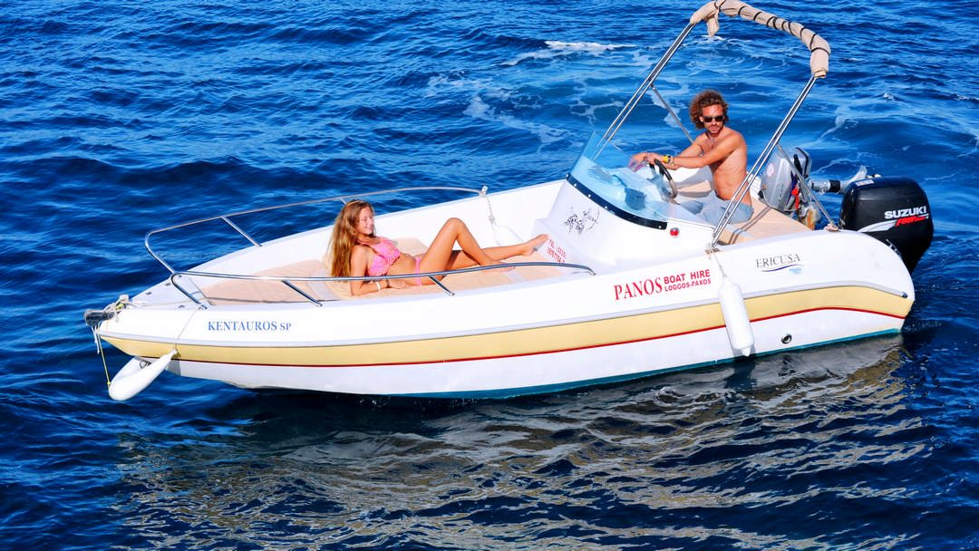Kentavros | 30-60 HP Deluxe Boat for hire in Paxos