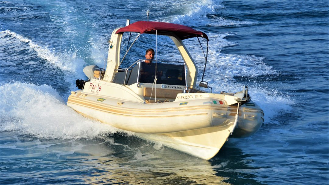 Narkissos   175 HP Sport Deluxe RIB for hire in Paxos
