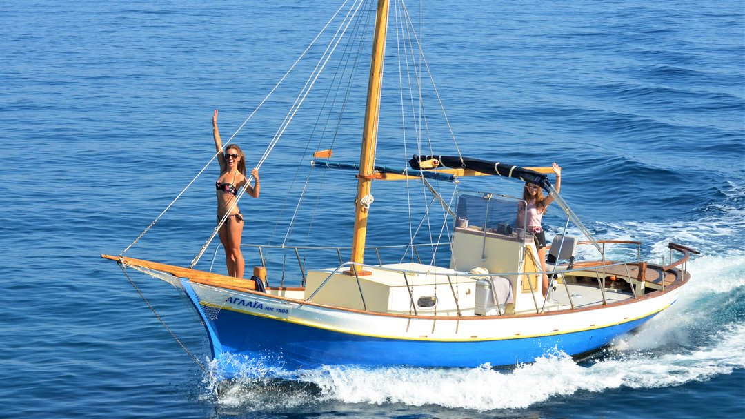Our traditional wooden boat Aglaia