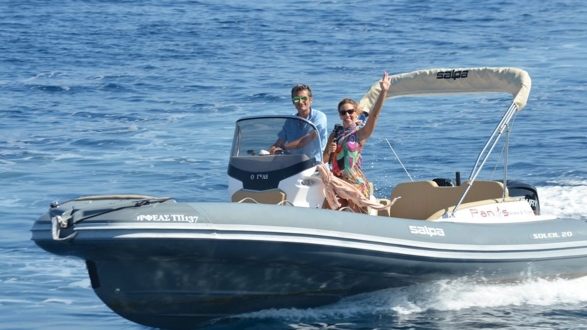 Orfeas & Iason | 115 HP Deluxe RIBs for hire in Paxos